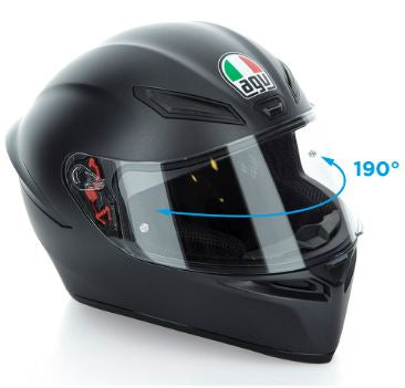 AGV K1 190 degrees vision