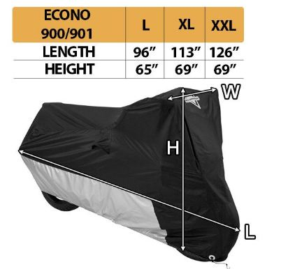 Nelson rigg bike cover econo size chart