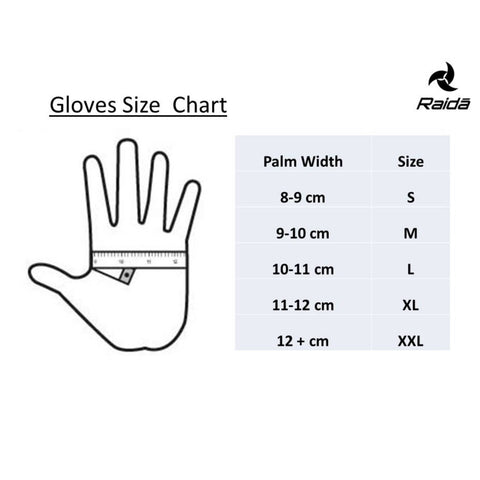 Raida Gears Size Chart Gloves