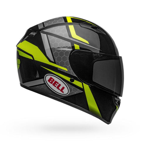 Bell Qualifier Flare Gloss Black-Hi-Viz Helmet, Full Face Helmets, BELL, Moto Central