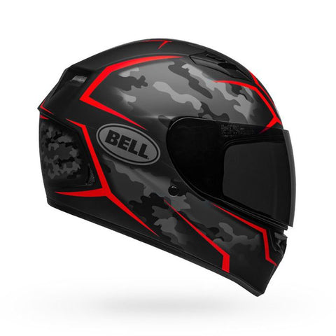 Bell Qualifier Stealth Camo Matt Black Red Helmet, Full Face Helmets, BELL, Moto Central