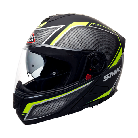 SMK Glide Kyren Matt Black Grey Yellow (MA264), Flip Up Helmets, SMK, Moto Central