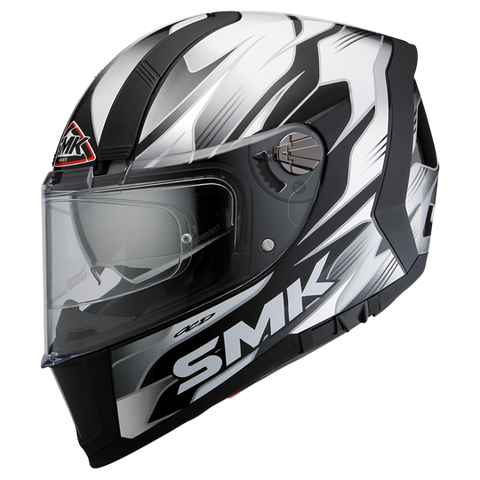 SMK Force Boost Gloss Black Grey (GL216), Full Face Helmets, SMK, Moto Central