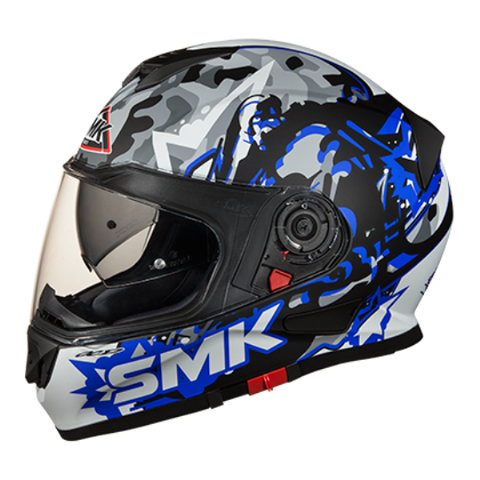 SMK Twister Attack Matt Blue (MA256), Full Face Helmets, SMK, Moto Central