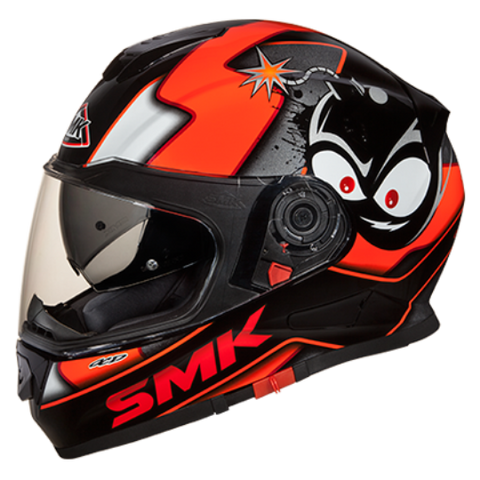 SMK Twister with Bluetooth Cartoon Black Orange (GL271) Gloss, Full Face Helmets, SMK, Moto Central