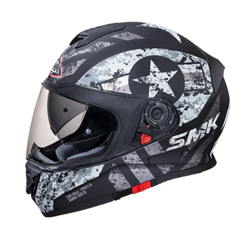 SMK Twister Captain Matt Black Grey (MA266), Full Face Helmets, SMK, Moto Central