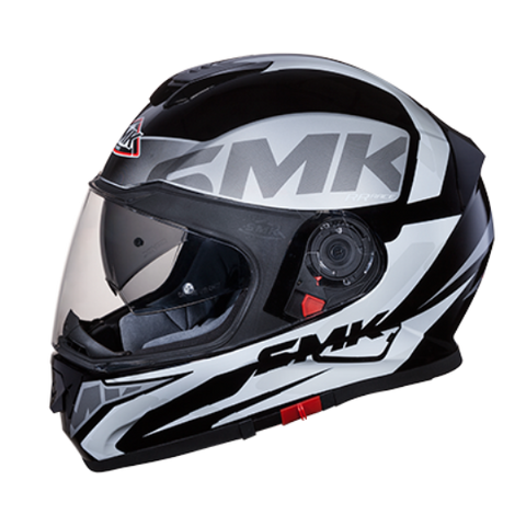 SMK Twister Logo Matt Black Grey (MA261), Full Face Helmets, SMK, Moto Central