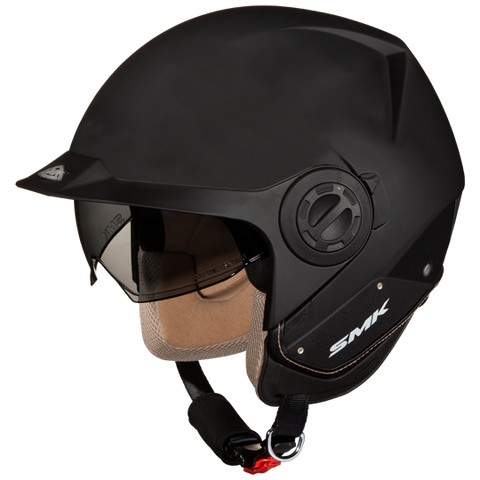 SMK Derby Matt Black (MA200), Open Face Helmets, SMK, Moto Central