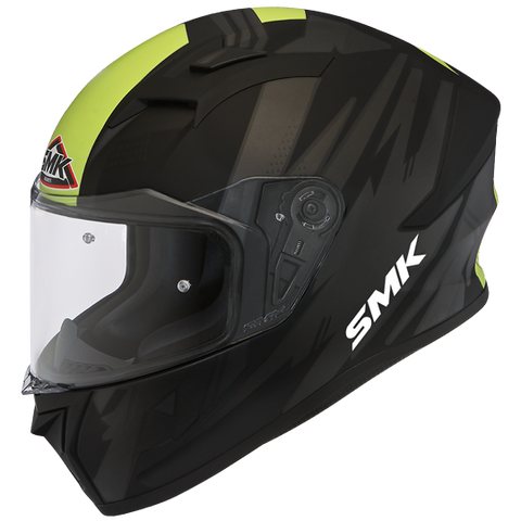 SMK Stellar Trek Matt Black Grey Yellow (MA264), Full Face Helmets, SMK, Moto Central