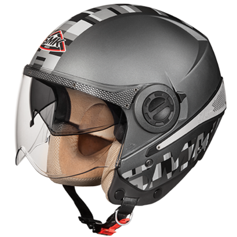 SMK Sirius Art Anthracite Matt (MADA612), Open Face Helmets, SMK, Moto Central