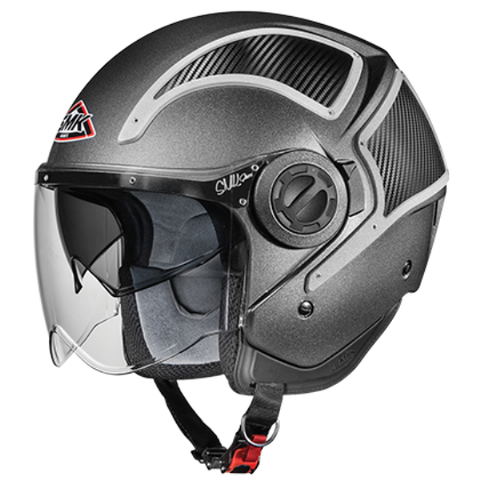 SMK Phoenix Matt Black (MA2CA), Open Face Helmets, SMK, Moto Central