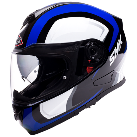 SMK Twister Twilight Gloss Black White Blue (GL251) Helmet, Full Face Helmets, SMK, Moto Central