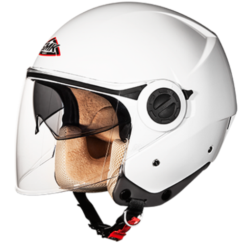 SMK Cooper Gloss White GL100, Open Face Helmets, SMK, Moto Central