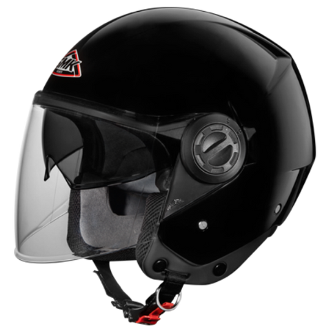 SMK Cooper Gloss Black GL200, Open Face Helmets, SMK, Moto Central