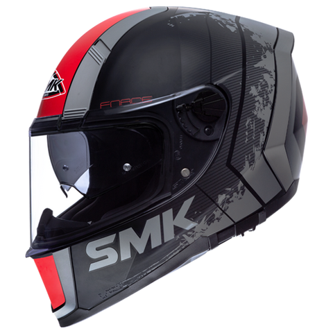 SMK Force Koster Matt Black Red (MA263), Full Face Helmets, SMK, Moto Central