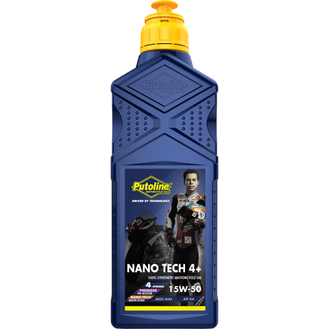 Putoline Nano Tech 4+ 15W50 100% Synthetic Motorcycle Oil, Accessories, Putoline, Moto Central