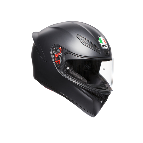AGV K1 Solid Matt Black Helmet, Full Face Helmets, AGV, Moto Central