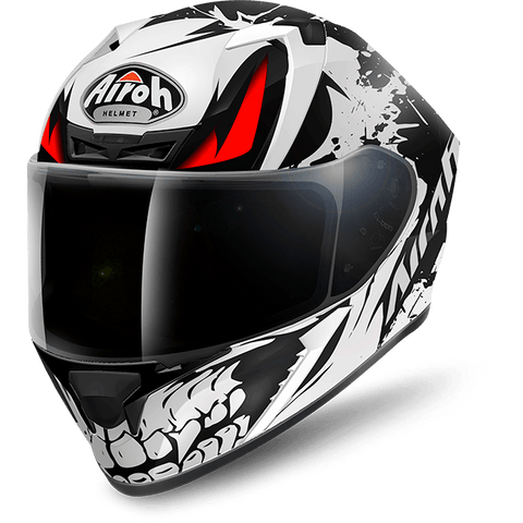 Airoh Valor Bone Matt Black Helmet, Full Face Helmets, Airoh, Moto Central