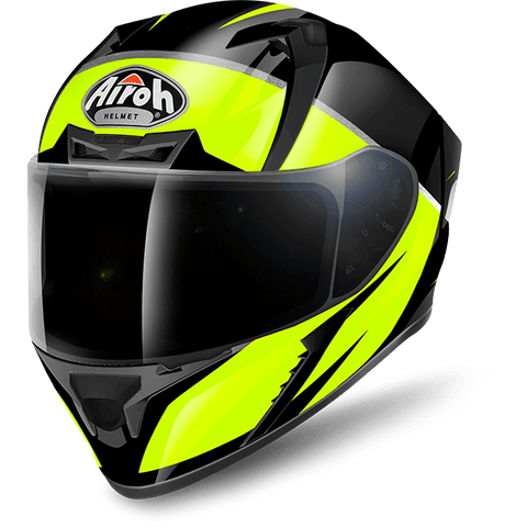 Airoh Valor Eclipse Gloss Black Yellow Helmet, Full Face Helmets, Airoh, Moto Central