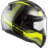 LS2 FF 353 Rapid Carrera Matt Black Hi-Viz Yellow Helmet, Full Face Helmets, LS2 Helmets, Moto Central