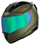 Steelbird Air SA-1 Aeronautics Matt Battle Green Helmet, Full Face Helmets, Steelbird Air, Moto Central