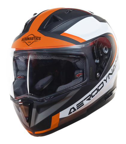Steelbird Air SA-1 Aerodynamics Matt Black Orange Helmet, Full Face Helmets, Steelbird Air, Moto Central