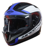 Steelbird Air SA-1 Aerodynamics Matt Black Blue Helmet, Full Face Helmets, Steelbird Air, Moto Central