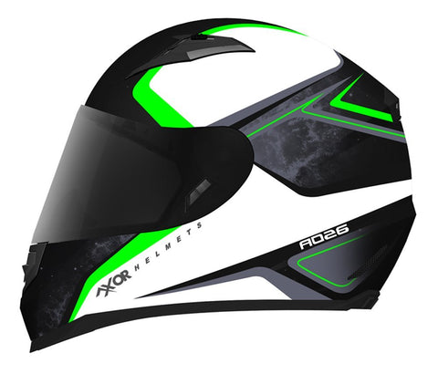 AXOR JARVIS Spirit Dull Black Green, Full Face Helmets, AXOR, Moto Central