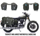 RoadGods Triton X1 Saddlebags 75 litres with Capsule Rain Cover, Riding Luggage, RoadGods, Moto Central