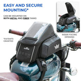 RoadGods Zeon R1 Motorcycle Tank Bag with Capsule Rain Cover (Non Magnetic), Riding Luggage, RoadGods, Moto Central