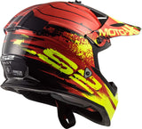 LS2 MX 437 Fast Gator Red Matt Helmet, Full Face Helmets, LS2 Helmets, Moto Central
