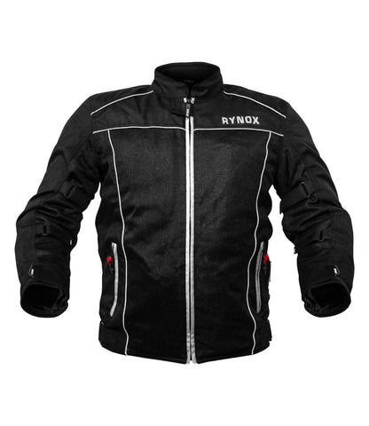 Rynox AIR GT v2.0 Black-White, Riding Jackets, Rynox Gears, Moto Central