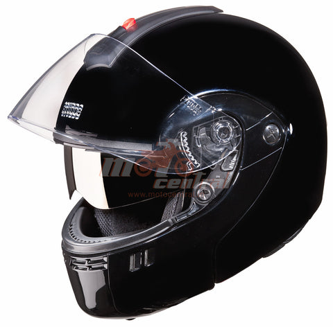 Studds Ninja 3G Double Visor Black, Flip Up Helmets, Studds, Moto Central