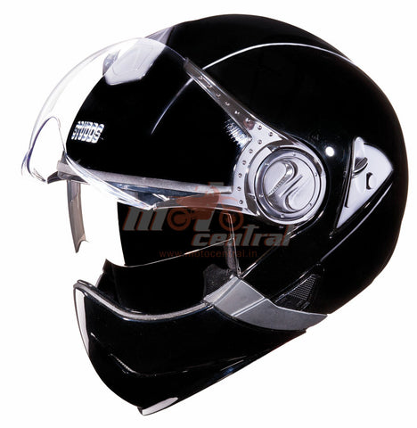 Studds Downtown FF Black, Flip Off Helmets, Studds, Moto Central