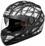 Studds Shifter Decor D6 Matt Black, Full Face Helmets, Studds, Moto Central