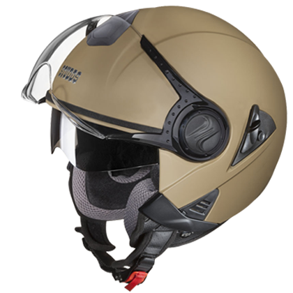 Studds Downtown Open Matt Desert Storm, Open Face Helmets, Studds, Moto Central