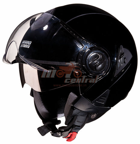 Studds Downtown Open Black, Open Face Helmets, Studds, Moto Central