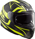 LS2 FF 328 Stream EVO Jink Matt black Hi-Viz Yellow Helmet, Full Face Helmets, LS2 Helmets, Moto Central