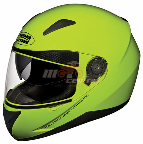 Studds Shifter Fluorescent Yellow, Full Face Helmets, Studds, Moto Central