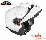 SMK Glide White, Flip Up Helmets, SMK, Moto Central