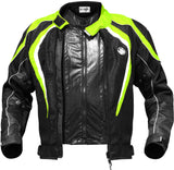 Rynox Tornado Pro Black-Fluorescent Green Riding Jacket (Knox Level 2), Riding Jackets, Rynox Gears, Moto Central