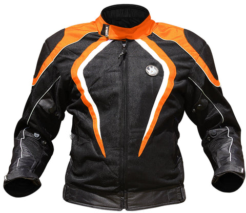 Rynox Tornado Pro Black-Orange Riding Jacket (Knox Level 2), Riding Jackets, Rynox Gears, Moto Central