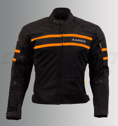 Aspida Icarus New Mesh Jacket (Black-Orange), Riding Jackets, Aspida, Moto Central