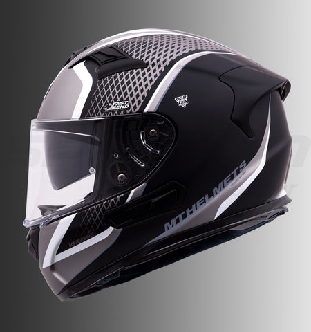 MT KRE SV Momentum (Matt Black-White), Full Face Helmets, MT Helmets, Moto Central