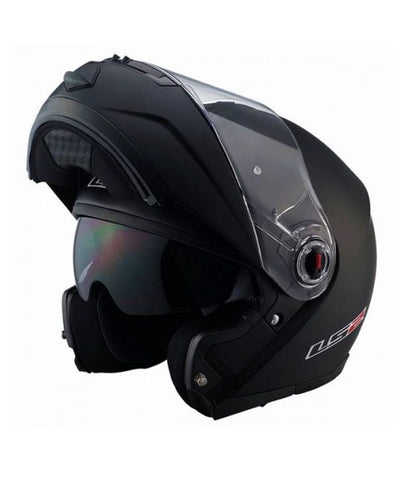 LS2 FF 386 Solid Matt Black Flip Up Helmet, Flip Up Helmets, LS2 Helmets, Moto Central
