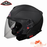 SMK Hybrid Matt Black, Flip Off Helmets, SMK, Moto Central