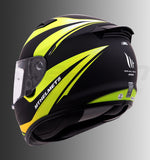 MT Matrix Incisor Matt Helmet (Yellow & Green), Full Face Helmets, MT Helmets, Moto Central