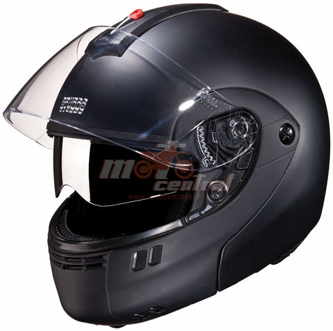 Studds Ninja 3G Double Visor Matt Black, Flip Up Helmets, Studds, Moto Central