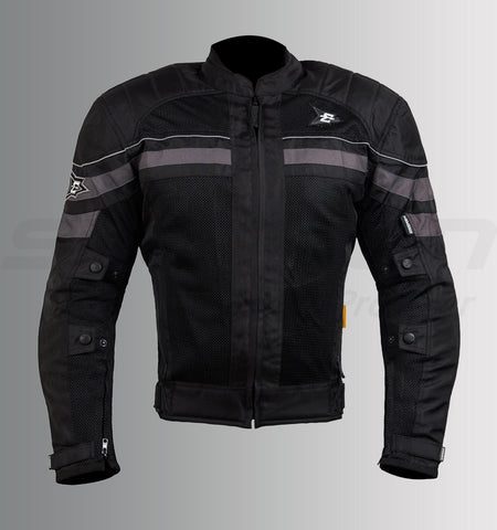 ASPIDA Nemesis Mesh Jacket (Black-Grey) (SAS-TEC Level 2 Armor), Riding Jackets, Aspida, Moto Central