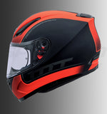 MT Revenge Binomy (Matt Black-Fluro Orange), Full Face Helmets, MT Helmets, Moto Central